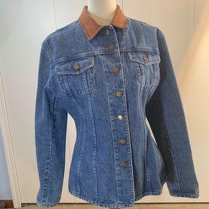 Old School M suade collar blue jean jacket VTG
